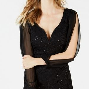 Connected Apparel Black Dress NWT